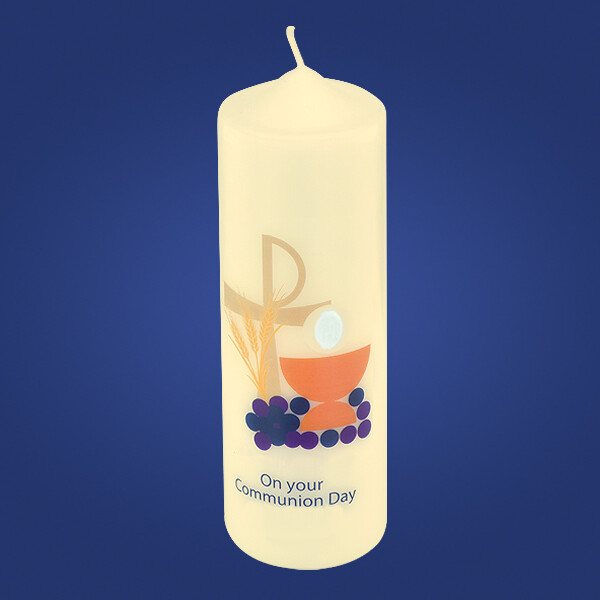 Chalice & Grapes Communion Candle
