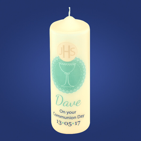 Green Chalice Communion Candle