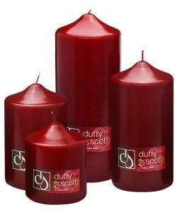 Red Claret Pillar Candles