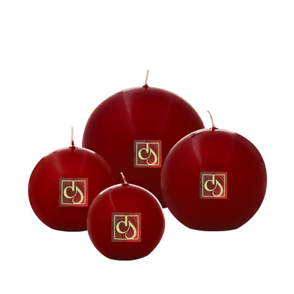 Red Claret Ball Candles