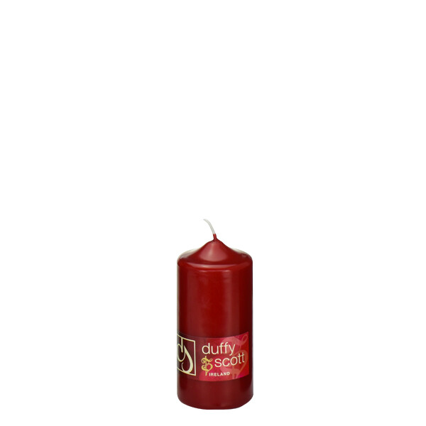 Red Claret Pillar Candle