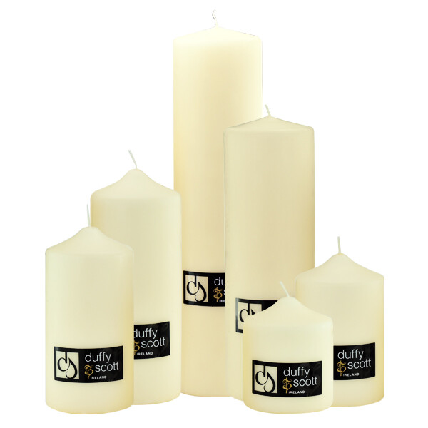 Cream Ivory Pillar Candles