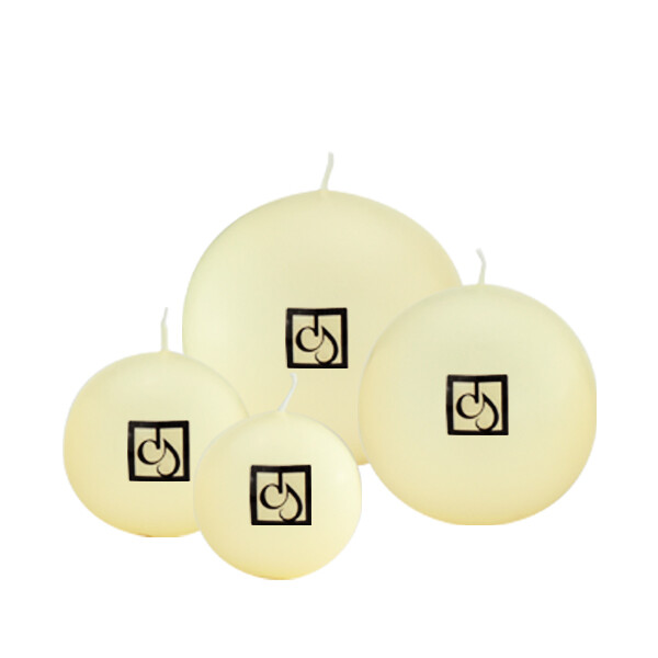 Cream Ivory Ball Candles