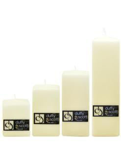 Cream Ivory Square Candles