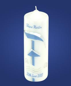 Blue PX Baptism Candle