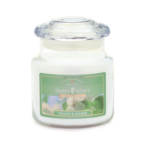 Tealeaf & Jasmine Scented Lidded Jar Candle