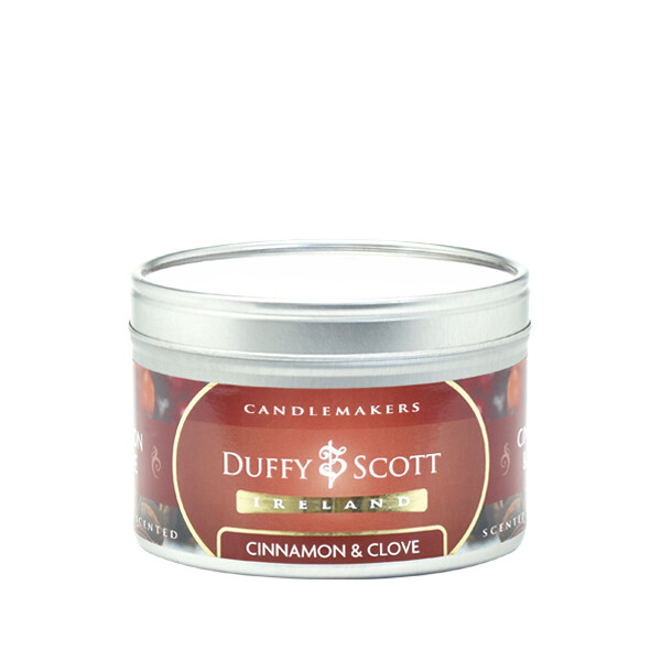 Cinnamon & Clove Scented Tin Candle