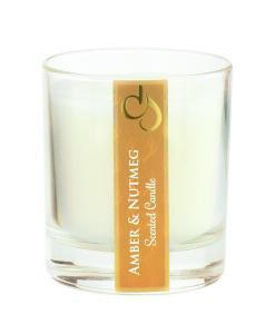 Amber & Nutmeg Scented Tumbler Candle