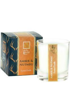 Amber & Nutmeg Scented Candle