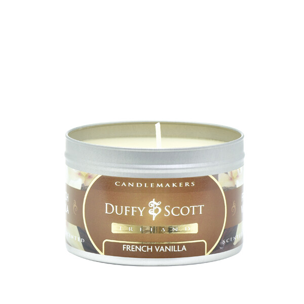 French Vanilla Scented Tin Candle