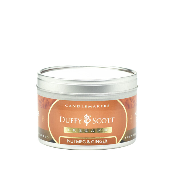 Nutmeg & Ginger Scented Tin Candle