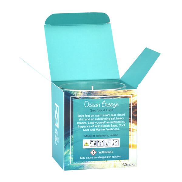 Ocean Breeze Scented Tumbler Candle Box