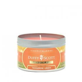 Tangerine Green Scented Tin Candle