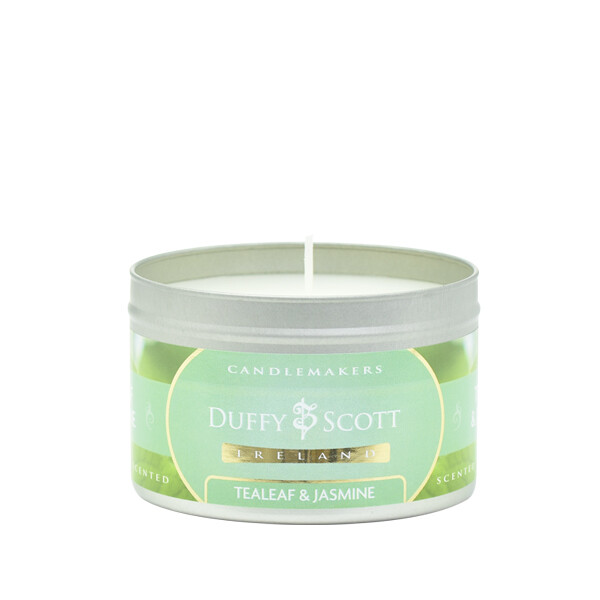 Tealeaf & Jasmine Scented Tin Candle