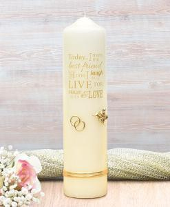 Gold Wedding Verse Wedding Candle