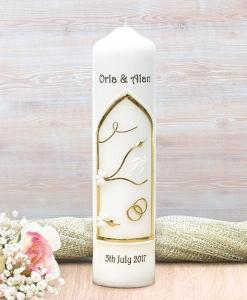 Gold Wedding Window Wedding Candle