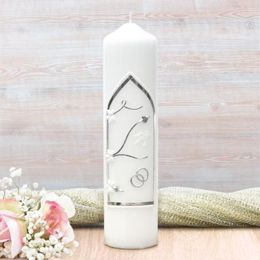 Silver Wedding Window Wedding Candle