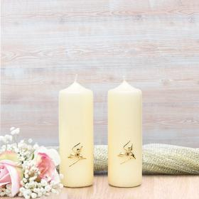 Gold Roses Wedding Side Candles