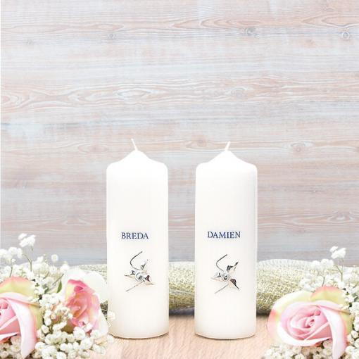 Silver Roses Wedding Side Candles