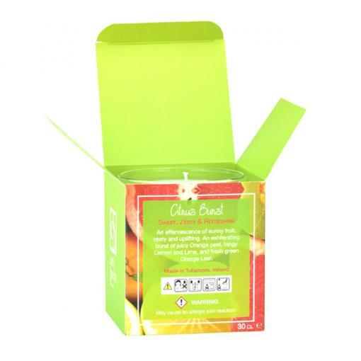 Citrus Burst Scented Tumbler Candle Box